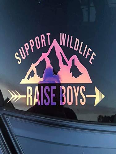 Amazon com: FREE SHIPPING support wildlife raise boys decal, car