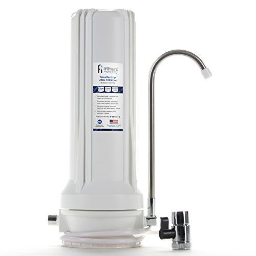 Countertop Ultra Drinking Water Filter for VOCs Cysts Pesticides Herbicides Chlorine Taste & Odor - White