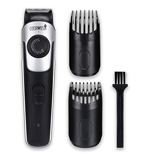 Ceenwes Beard Trimmer & Hair Clipper 38 Length Settings Lifetime Sharp Blades 2 Combs With Precision Dial USB Charging