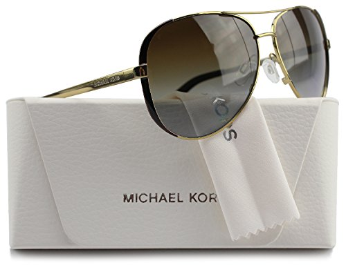 Michael Kors MK5004 Chelsea Aviator Polarized Sunglasses Gold w/Brown Gradient (1014/T5) MK 5004 1014T5 59mm - Polarized Michael Kors Sunglasses