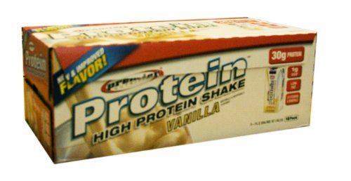 Premier Protein - High Protein Ready To Drink Shakes, 18-11oz shakes Vanilla