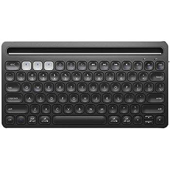 iclever bluetooth keyboard wireless keyboard rechargeable ergonomic design multi. Black Bedroom Furniture Sets. Home Design Ideas