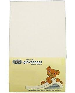 DK Glovesheets – Sábana bajera dos color blanco sábana ajustable 83 x 50 cm cuna hojas