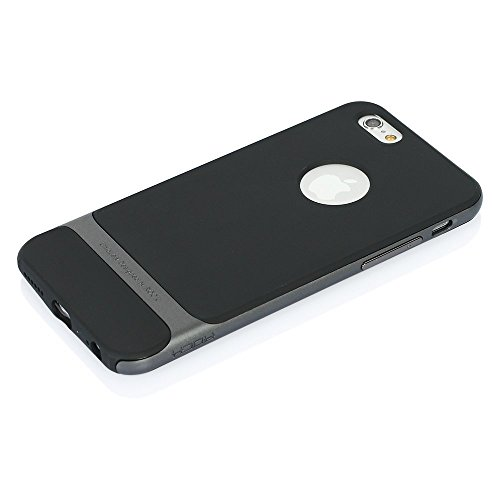 Price comparison product image Rock Iphone 5s Case Hybrid Ultra Slim Hard Bumper Soft Rubber Skin Case Cover For iphone 5 5s(Royce 5S Grey)