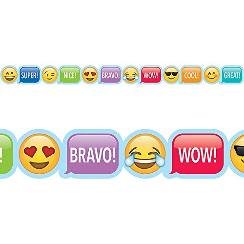 Creative Teaching Press Border Emoji Fun Emoji Rewards Border, Ctp 2681 with