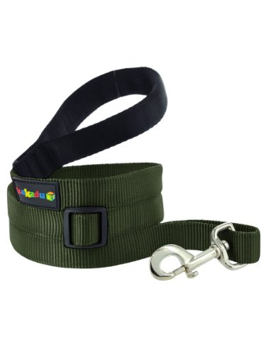 "Empire Extendible Lead, Long Nylon Leash by Kakadu Pet, Large, 1"" x 4-6ft, Forest (Green)"