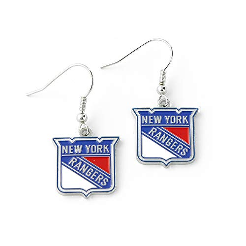 NHL New York Rangers Logo Dangler Earrings