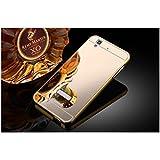 Taslar(TM) Luxury Mirror Metal Series Bumper Back Cover Case For Micromax Yu Yureka / Yu Yureka Plus (Gold)