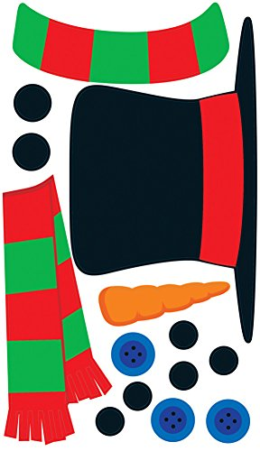 Create-A-Snowman Peel 'N Place Party Accessory (1 count) (14/Sh) - Translucent Window Poster