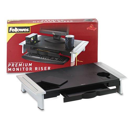 Fellowes 8031001 Storage Monitor Riser,Adjustbl,27'' x14-1/16 x4-6-1/2'',BK/SR