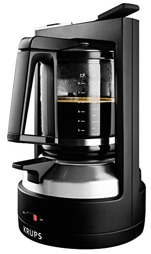 Best KRUPS KM4689 Moka Brewer Coffee Maker Machine with Permanent Filter and Glass Carafe, 10-Cup, Black (online)