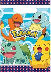 Pokémon: 8 Bolsas de Fiesta obsequios para cumpleaños ...