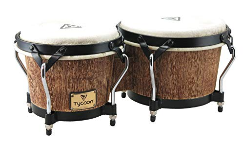 (Tycoon Percussion STBS-B IP 7 and 8-1/2 Inches Supremo Series Bongos, Island Palm)
