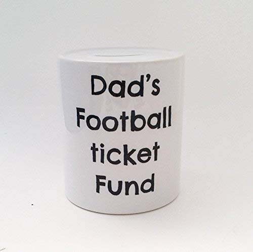Football Fund Money Box Personalised Funny Saving's Jar Adult Money Box Savings Jar Gift For Him Dad Daddy football Fund Father's Day