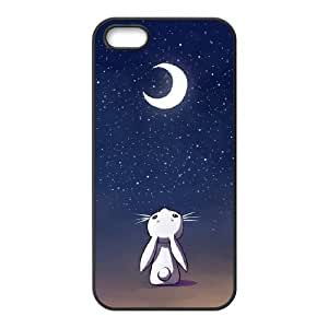 Customized Dual-Protective Case for Iphone 5,5S, Moon Bunny Cover Case - HL-R687540