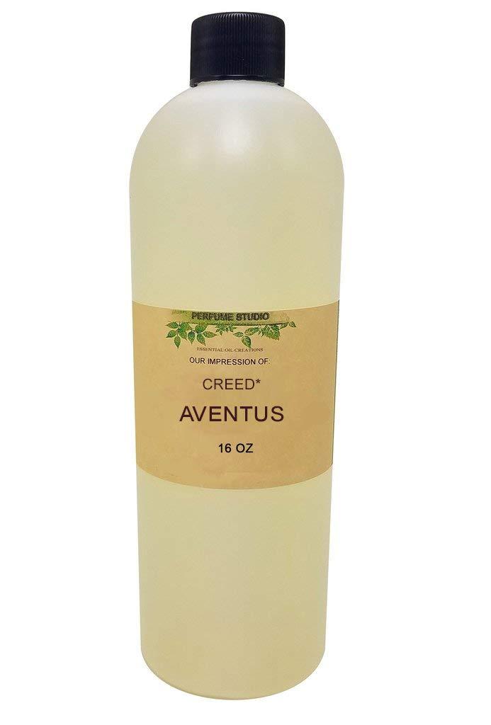 Perfume Oil IMPRESSION Bulk Quantity for Personal Beauty, Bath & Body Products. 100% Pure Premium Parfum Oil, No Alcohol (Creed_Aventus Impression, 16 oz)