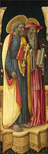 The High Quality Polyster Canvas Of Oil Painting 'Antonio Vivarini And Giovanni D'Alemagna Saints Peter And Jerome ' ,size: 30 X 95 Inch / 76 X 242 Cm ,this High Quality Art Decorative Canvas Prints Is Fit For Game Room Decoration And Home Artwork And Gifts