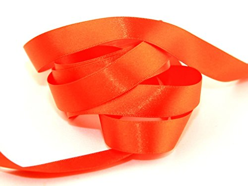 10mm Berisford Double Faced Satin Ribbon 677 Flame - per ()