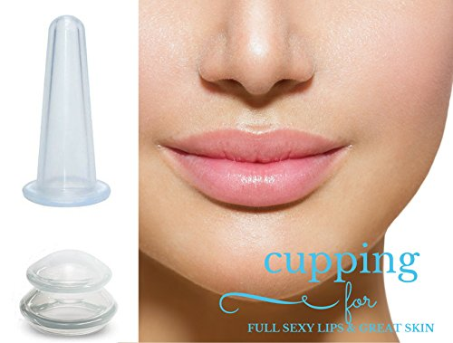 LURE Home Spa Lip Enhancer for FULL Lips and Free Anti-Aging Face Cupping Cup for Wrinkle Reduction and Rejuvenation