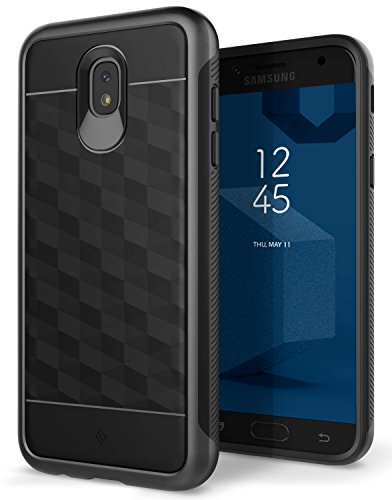 Price comparison product image Galaxy J5 Pro Case,  Caseology [Parallax Series] Slim Protective Dual Layer Textured Cover Secure Grip Geometric Design for Samsung Galaxy J5 Pro (2017) - Black