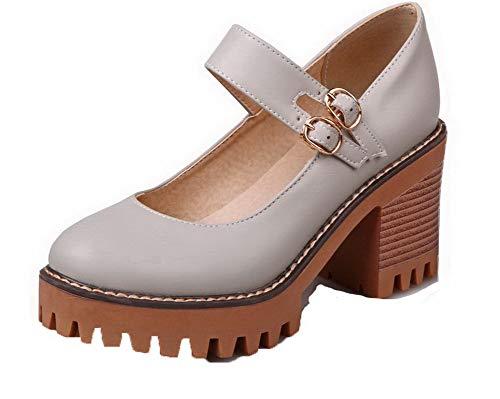 Femme L Agoolar Couleur Unie Boucle Rond Chaussures Z1qn1TW