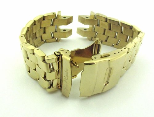Joe Rodeo Broadway 26mm yellow gold color stainless steel Band.