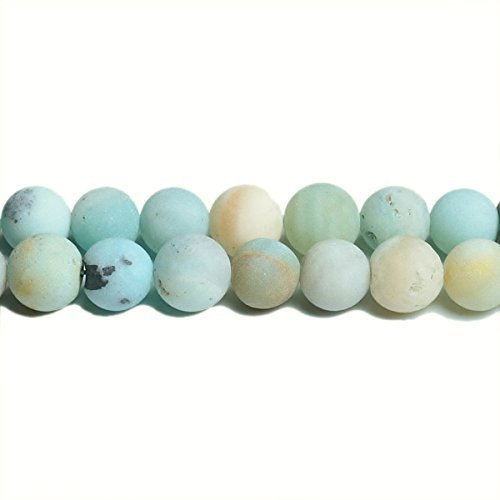 Fil De 62+ Multicolore Amazonite 6mm Perles Rondes Givrées - (CB31194-2) - Charming Beads Something Crafty Ltd