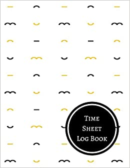 amazon com time sheet log book daily employee time log