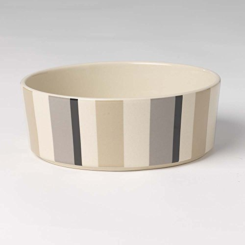 PetRageous 4 Cup Metro Stripes Slow Feed Bowl, 7 x 2.25