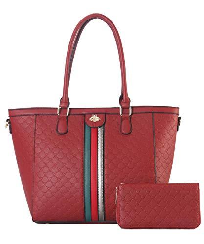 Women Top Handle Satchel Handbags Shoulder Bag Messenger Tote Bag Purse RED