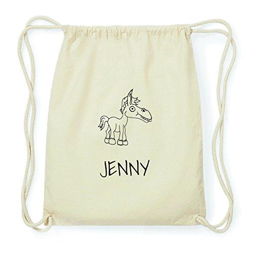 JOllipets JENNY Hipster Turnbeutel Tasche Rucksack aus Baumwolle Design: Pferd dOyi1