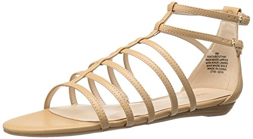 Nine West Women's Aboutthat Synthetic Dress Sandal, Light Natural, 39 B(M) EU/7 B(M) UK