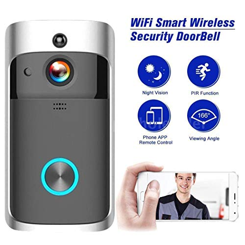 lantusi Durable Practical 166° Wide-Angle Wireless Phone Remote Doorbell Kits by lantusi (Image #5)