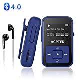 AGPTEK A12 8GB Clip Bluetooth Mp3 Player with Silicone Case, Support up to