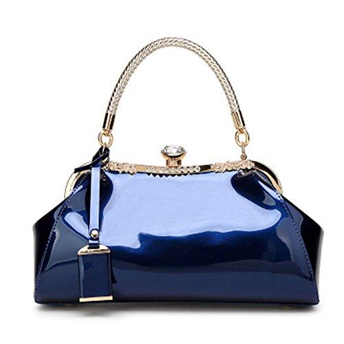 Meaeo El Charol Mujer Bolsas De Hombro Lady Bolsos De Lujo Mujer Noche Bolsas Bandoleras Marcas Famosas Mujeres Bolso Asa Superior,Azul Blue