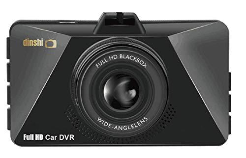 Dinshi Carmate Dual Lens Dashboard Car Camera with 1080P Full HD 3″ LCD Screen 120° Wide Angle Lens Loop Recording Night Vision