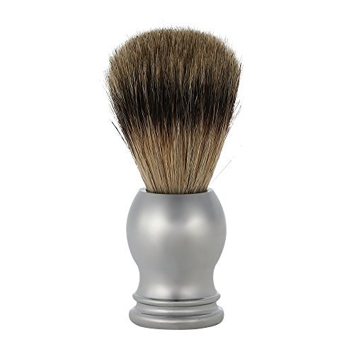 Anself Facial Shaving Brush Badger Men's Shaving Brush Stainless Steel Handle Barber Salon Tool