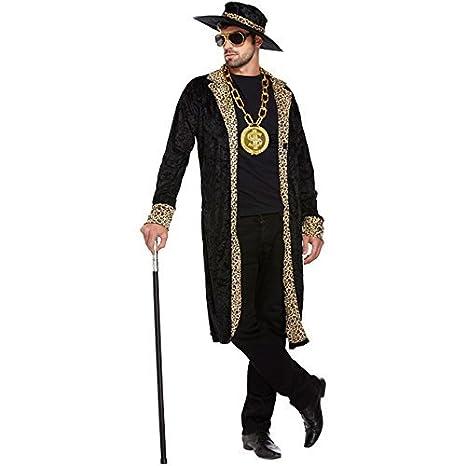 bde1a54ef24 Amazon.com  Pimp Fancy Dress Costume (Black)  Toys   Games