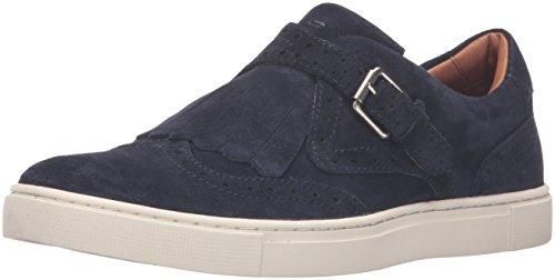 FRYE Women's Gemma Kiltie Suede Fashion Sneaker, Navy, 7.5 M US