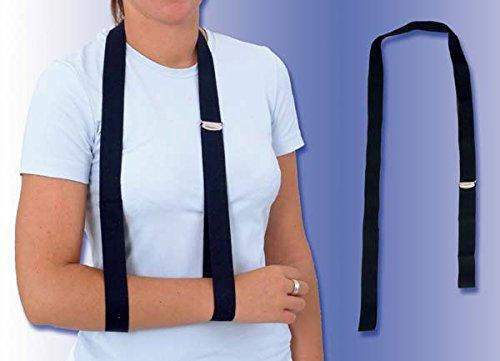 Armtragegurt (schwarz) aus Baumwolle - 130 cm lang, 30 mm breit - Doppelte Schlaufe┇1 Stück