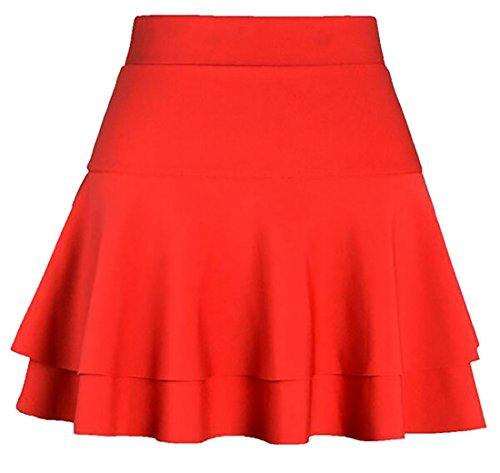 Skirt Stretchy Basic Winter UK Layered Women's Mini Pleated today 2 Warm Oz6FBwq