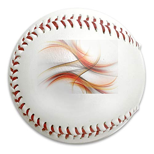 Whages Orange Abstract Contemporary Abstract Smooth Lines Blurred Art Customized Soft Baseball Bubble Baseball is Suitable for Children and Teen Players Training ()