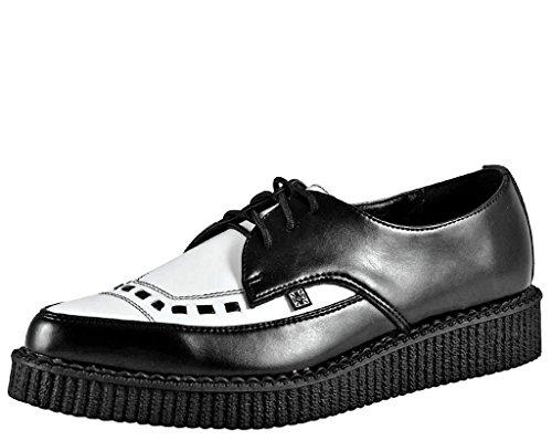Black White Spectator Shoes - T.U.K. Unisex A8140 Creeper Oxford,Black/White,5 M US