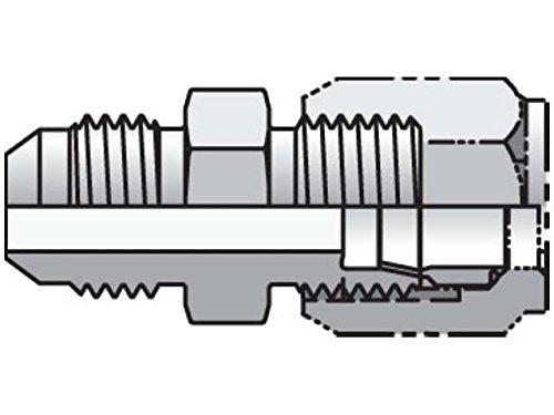 Parker 6 XHBU-S Ferulok to JIC Adapter 3/8 Tube X 3/8 JIC Male Steel