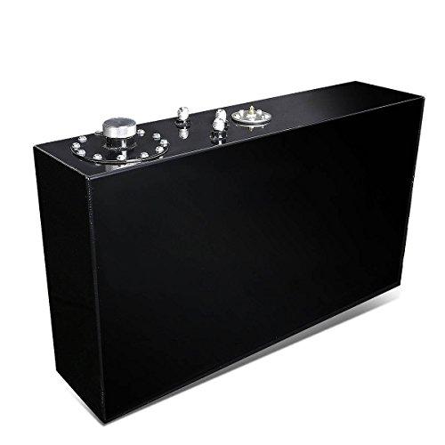 - 17-Gallon Top-Feed Slim Aluminum Fuel Cell Gas Tank w/Cap (Black)