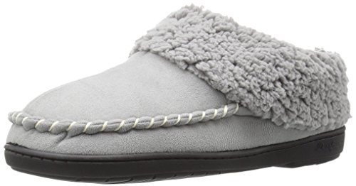 Dearfoams Women's Microsuede Clog Mule, Medium Grey, Medium/7-8 M US