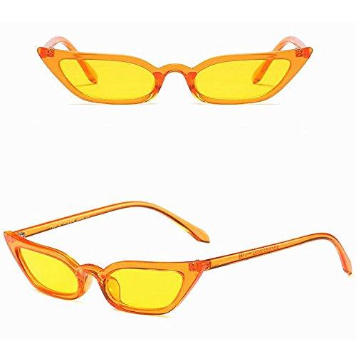 pour cadre chat soleil Lunettes UV400 de Oeil Des Vintage Soleil Jaune Sunenjoy de Mode Dames Petit de lunettes Lunettes Rétro Femme UzZwaq