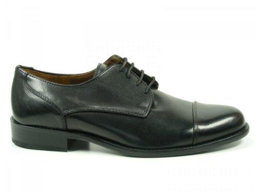 Manz Schuhe Herren Halbschuhe Schnürschuhe Weite G Kay 142090-02, Schuhgröße:41;Farbe:Schwarz