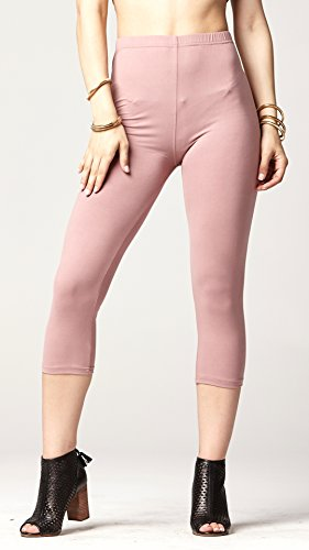 966a09d9ac8537 Conceited Premium Ultra Soft Capri Leggings - High Waist - Regular and Plus  Size - 15