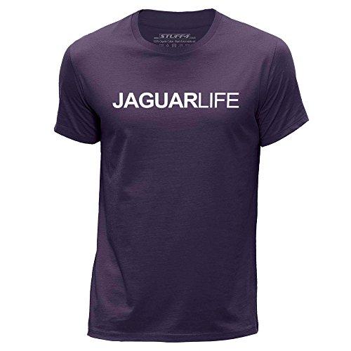 Jaguar Xj V8 (STUFF4 Men's Small (S) Purple Round Neck T-Shirt/Car Life / Love Jaguar)